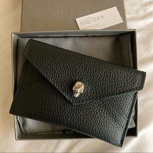 Alexander McQueen Skull Envelope Cardholder Wallet